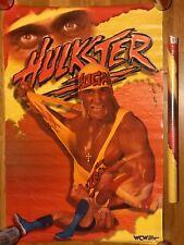 VINTAGE HULK HOGAN POSTER 1995 WWE WCW WWF ECW WRESTLING RIC FLAIR LJN HASBRO