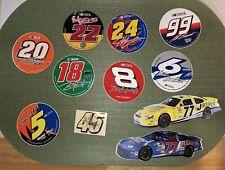 NASCAR: 3 in. round /Square /Car DECAL STICKERS - Burton, Gordon, Martin Stewart