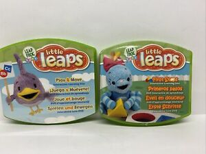 Lot Of 2 Leap Frog Baby Little Leaps Interactive DVDs  First Steps Play & Move