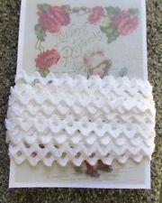 "Embellishments Trims Sewing 9 Yards WHITE 3//8/"" Vintage rick rack Crafts"