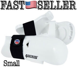 ProForce Lightning Karate Sparring Gloves Punches, Small, White - NEW! FAST!
