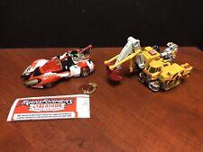 Transformers Cybertron Override & Longrack Lot Of 2 Loose Complete EM2163