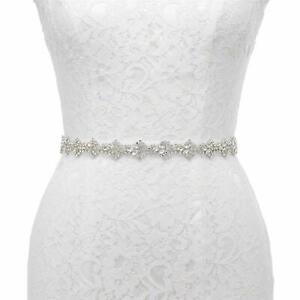 Thin Crystal Bridal Sash Rhinestone Wedding Belt for Wedding Bridesmaid Dress
