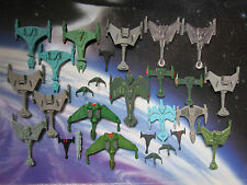 Star Trek Micro Machines Klingon Ships Negh'Var,D-2 Stingtongue,Raptor Vorcha D7