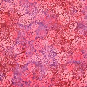 Anthology Fabric - Batik 203Q-4 Purple & Pink Roses - Cotton YARD