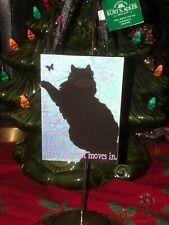 Kate Ward Thacker W/ Kurt Adler~Cat Plaque Christmas Tree Ornament~Adorable!