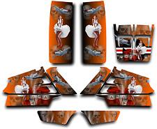 YAMAHA BANSHEE GRAPHICS WRAP DECAL STICKER KIT AMERICAN HERO PINUP Orange