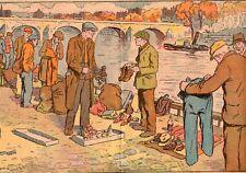 PARIS BORDS SEINE CLOCHARD MARCHE VENTE OBJET IMAGE 1933 TRAMP MARKET OLD PRINT