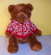 "Aeropostale~15"" Brown Bear Aeropostale Shirt~Plush Stuffed Animal"