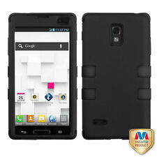 T-Mobile LG Optimus L9 P769 IMPACT TUFF HYBRID Case Skin Phone Cover Black Black