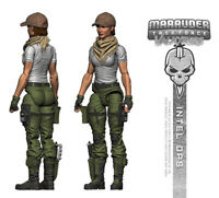 "Marauder Task Force Valkyrie ""Intel-Ops"" 1:18 scale GI Joe Figure with Gear"