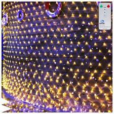 Ollny Led Net Fairy Lights Warm White Plug in 3m x 2m, 200 LED Mesh String