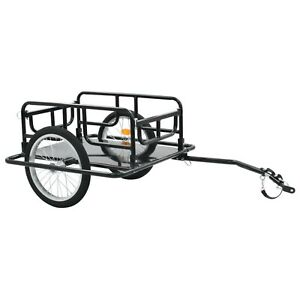 Bike Cargo Trailer Bicycle Cycling Luggage Carrier Steel Black with Coupling