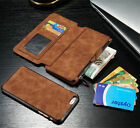Genuine Leather Case Cover Card Cash Multifunction Wallet For iPhone 6 /6S Plus