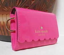NWT Kate Spade Lilly Avenue Darla Leather Card Case Wallet Radish Mahogany NEW