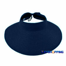 Mujer Plegable Borde Ancho Visera Sol Sombrero Con vuelta PLAYA Floppy exterior