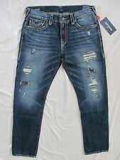 True Religion Geno Relaxed Slim Super T Jeans-Patched Recruit-Size 36-NWT $379