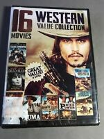Western Value Collection Dvd 16 Movies Over 24 Hours New Sealed Free Shipping
