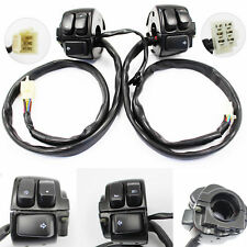 Black Handlebar Switch Control with Wire Harness For HARLEY SOFTAIL 1996 - 2012