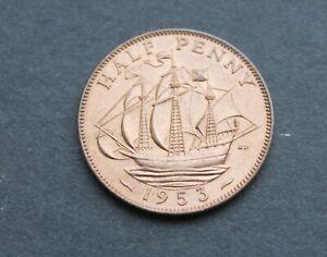 GB Halfpenny – 1953 – RARE Obverse 1 - (From Plastic Set) BU Super Coin (Je1)
