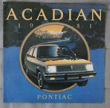 PONTIAC ACADIAN 1981 dealer brochure - French - Canada - HS1002001117