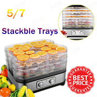 5/7 Trays Food Dehydrator Machine for Jerky Meat Fruit Vegetable Beef, BPA Free