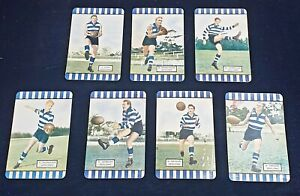 1955 Coles Series 2 Geelong Team Set x7 Trezise Hyde Middlemiss Cards