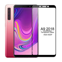 For Samsung Galaxy A9 2018 Full Cover Tempered Glass Screen Protector Black Sd