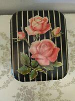 Vintage Boîte Étain Keller Vienne Rose