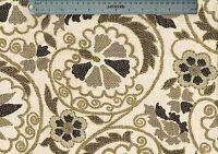 Richloom Fabric Marakesh Linen Beige Floral Linen Blend  Drapery Upholstery