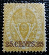 nystamps Canada British Columbia & Vancouver Island Stamp # 11 Mint OG H $300