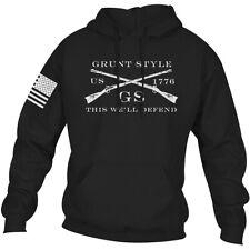 Grunt Style Logo Basic Pullover Hoodie - Black