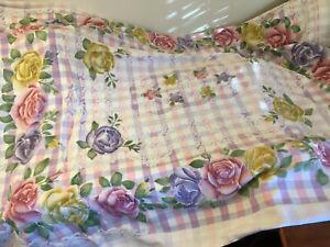 Armenian Russian Soviet USSR Style Floral Flower Textured Blankets PINK PURPLE