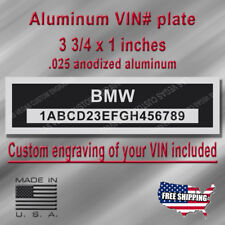 Serial VIN Plate - BMW - Custom Engraving of your number included