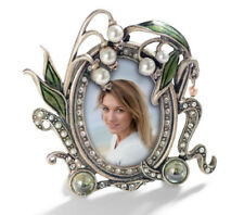 NEW SWEET ROMANCE LILY OF THE VALLEY MINIATURE PICTURE PHOTO FRAME SILVERTONE