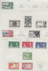 9 Cayman Islands Stamps from Quality Old Antique Album 1935-1938