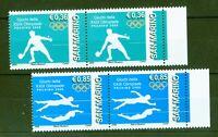 San Marino 2008 - Olympia Beijing - Nr. 2345 I + 2347 I - Bogenpaar Schwimmen