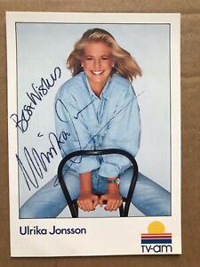 Ulrika Jonsson signed 6x4 photo