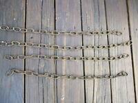 "Vintage Link Chain Industrial total 96""  4 Links Rusty 1.5"" Links 1+3/4 lb"