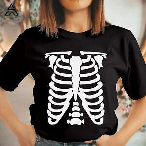 Ribcage Skeleton Halloween T-shirt Horror Scary skull Ghost Gift for Friend 1741