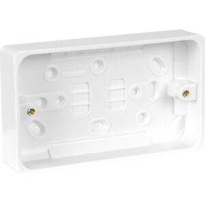 2X Crabtree Moulded Pattress Box 2 Gang 29mm Each, plug, socket, electrical