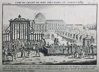 Gardes Suisses Juillet 1789 École Militaire Paris Champs de Mars Dragons Hussard