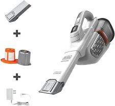 BLACK+DECKER Dustbuster Handheld Vacuum, Cordless, AdvancedClean+, White (HHVK32