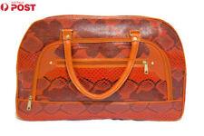 New Carry on Bag Luggage Bag Faux Leather Traveller's bag Large Messenger Bag HQ
