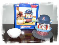 DEPARTMENT 56 BOSTON RED SOX LIGHTED REFRESHMENT STAND AND SNACK DISH PLUS YBs