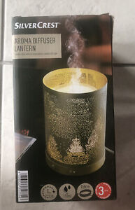 Silvercrest Aroma Diffuser Lantern- Gold Trees- Up To 12h Max 110ml 150cm Cable