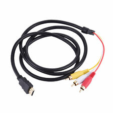 HDMI Male S-video 1080p to 3 RCA AV Audio Cable Cord Adapter FOR TV HDTV DVD