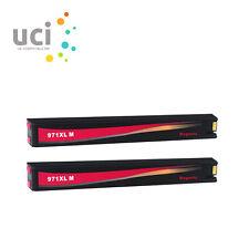 2 Magenta Ink Cartridge for HP 970XL 971XL Officejet Pro X451dw X551dw X576dw