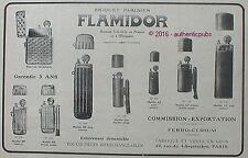 PUBLICITE FLAMIDOR BRIQUET PARISIEN MODELE AZ BB ZIPPO DE 1916 FRENCH AD PUB