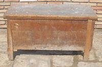 Antica piccola cassa cassapanca dispensa baule in legno massello fine 800 c9